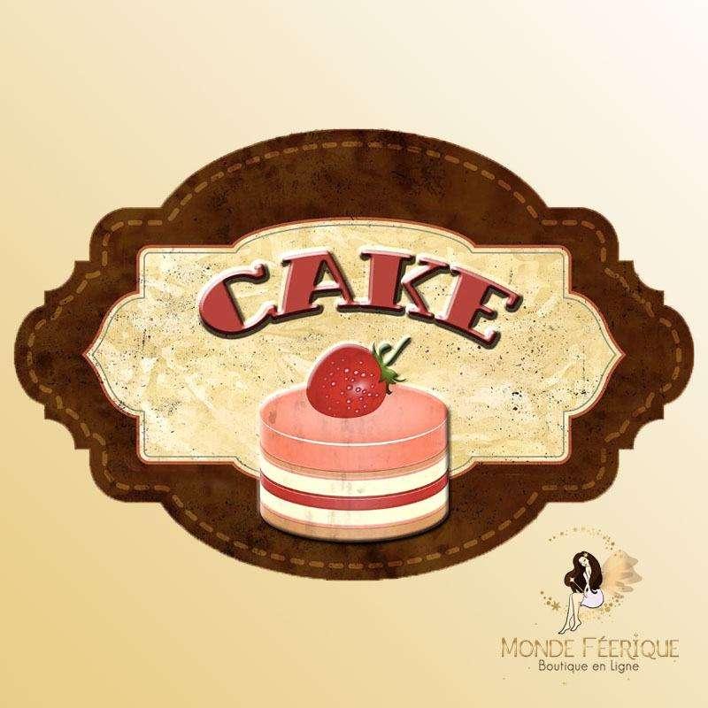 Plaque Décoration Vintage Cake Premium 30x19cm