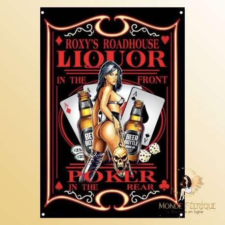 plaque decoration poker vintage