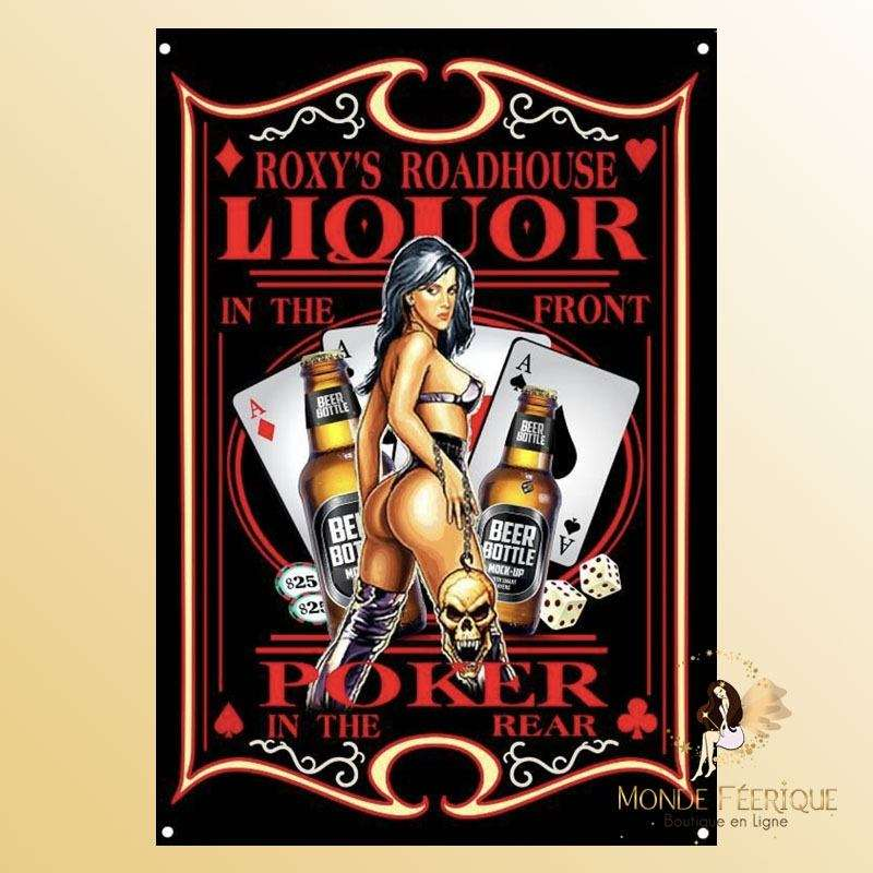 Plaque Décoration Liquor Poker Premium 30x40cm
