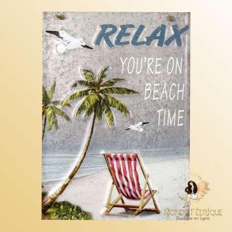plaque decoration relax vintage vacance détente loisirs