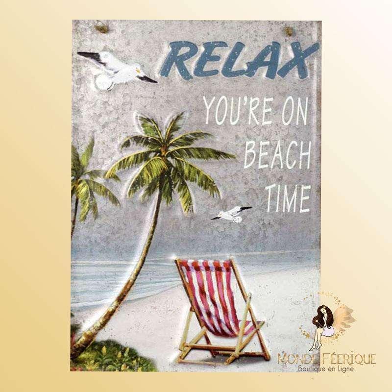 Plaque Décoration Relax Premium 30x40cm