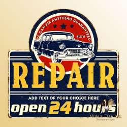 plaque decoration retro vintage garage americain