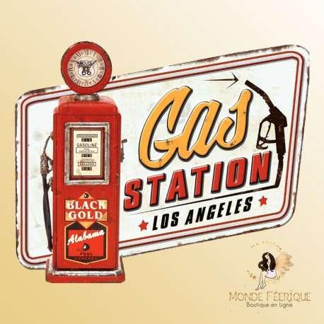 plaque decoration station service americaine usa vintage