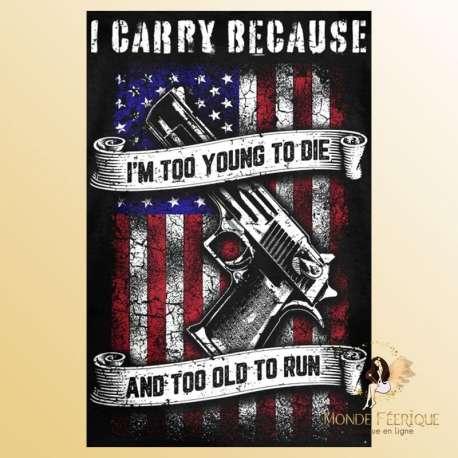 plaque decoration USA jeunesse arme