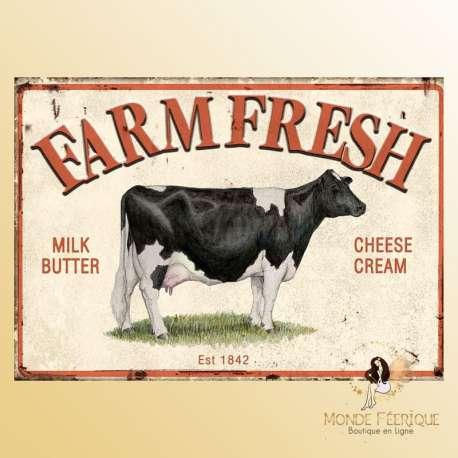plaque decoration vintage alimentation lait
