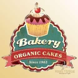 plaque decoration vintage cupcake cake boulangerie