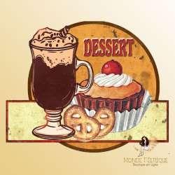 plaque decoration vintage dessert retro