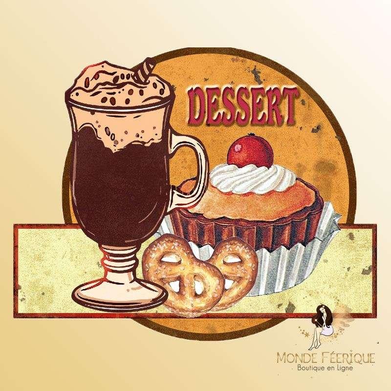 Plaque Décoration Dessert et viennoiserie Premium 30x26cm