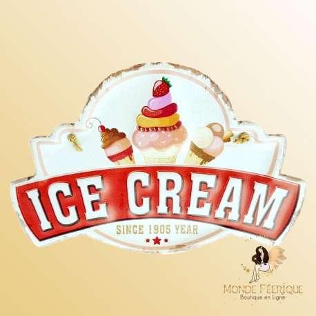 plaque decoration vintage ice cream glaces