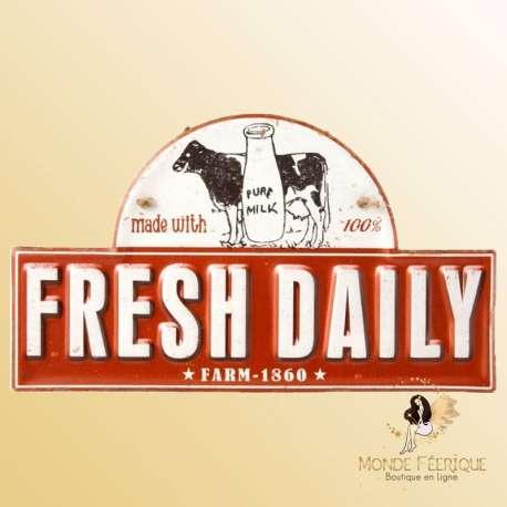 plaque decoration vintage lait