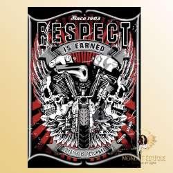 Plaque Décoration Respect Premium 30x40cm