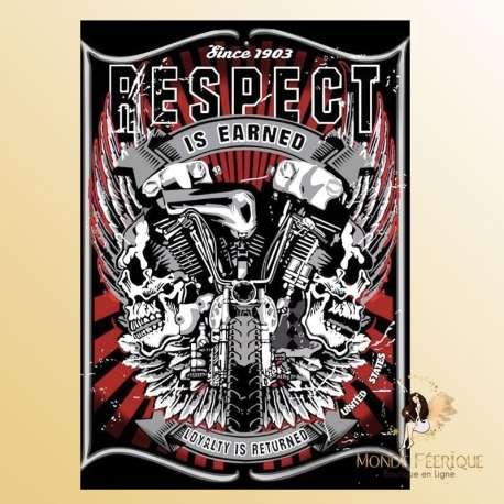 plaque decoration vintage respect