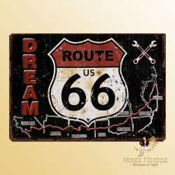 Plaque Décoration Route 66 Dream Premium 30x40cm