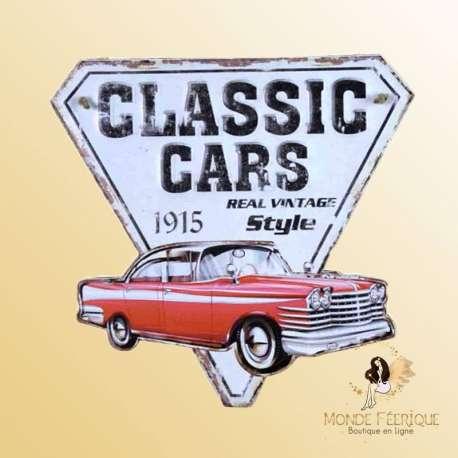 plaque decoration voiture ancienne vintage