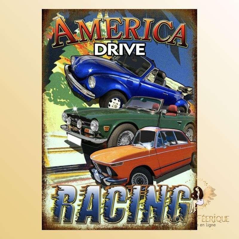 Plaque Décoration America Racing Premium 30x40cm