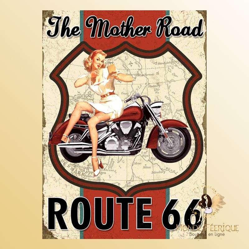 Plaque Décoration the mother road 66 Premium 30x40cm