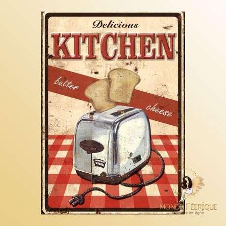 plaque vintage ancienne cuisine grille pain