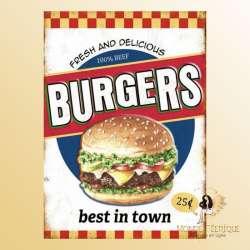 Plaque Décoration Burger Premium 30x40cm