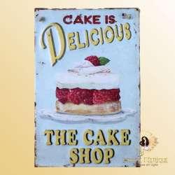 plaque vintage gateaux cupcake patisserie décoration