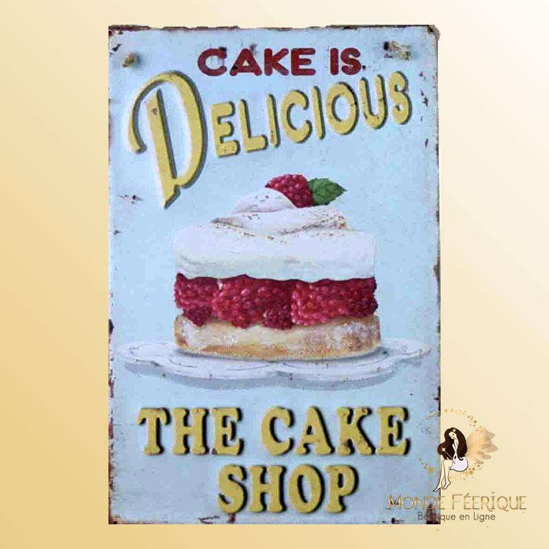 Plaque Décoration Cake Delicieux Premium 30x40cm