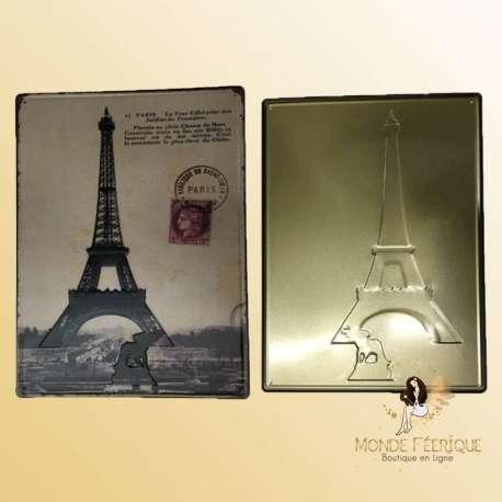 plaque vintage paris tour eiffel