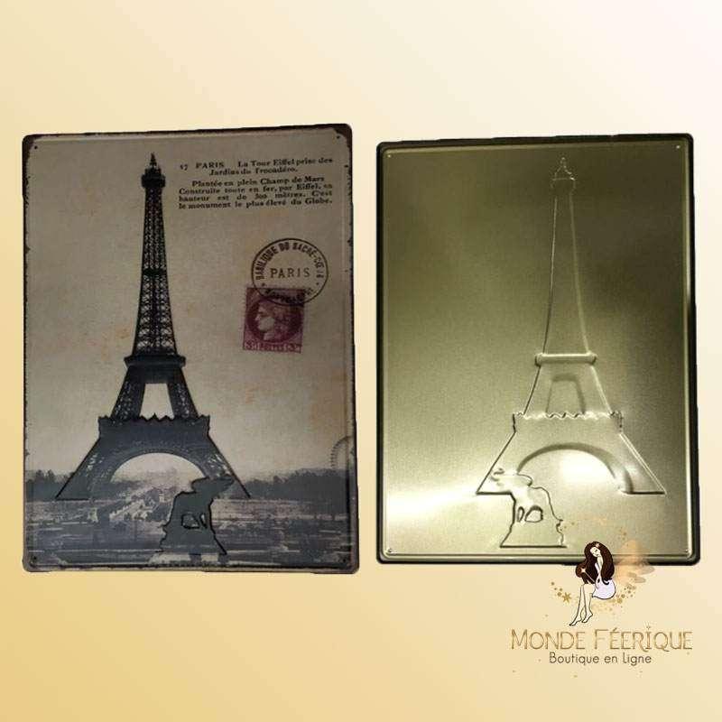 Plaque Tour Eiffel Premium 30x40cm