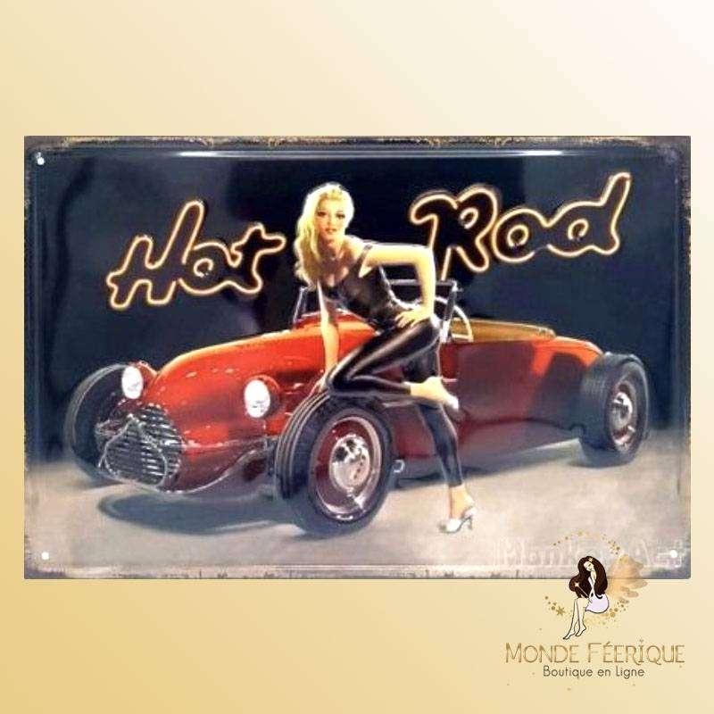 Plaque Vintage Pin up Blonde Premium 30x40cm