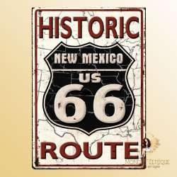 plaque vintage road66