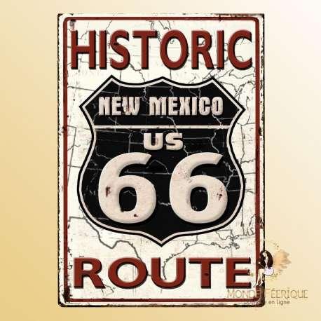 plaque vintage road66