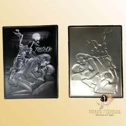plaque vintage rock amour moto