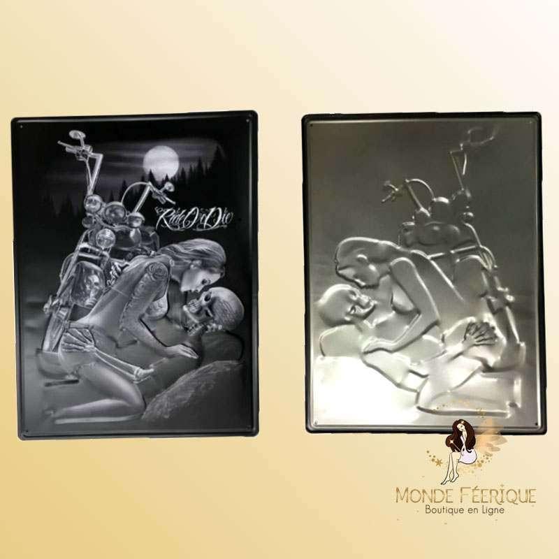 Plaque Vintage Amour Rock Premium 30x40cm