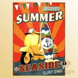 plaque vintage scooter decoration surf cool