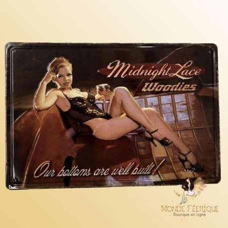 plaque vintage sexy