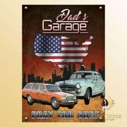 plaque vintage voiture americaine decoration
