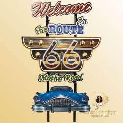Plaque vintage Las Vegas Route66 grande taille