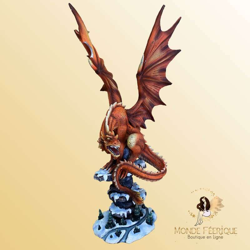 Statuette Dragon Rouge -- 48cm
