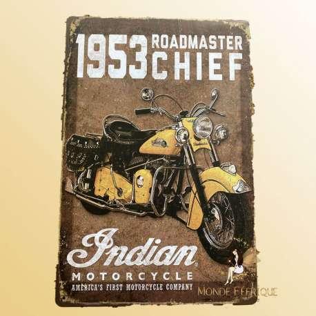 plaque décoration moto indian