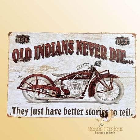 plaque deco moto indian
