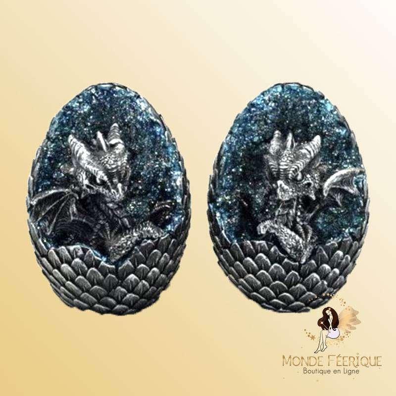 Figurine Dragon cristaux bleus