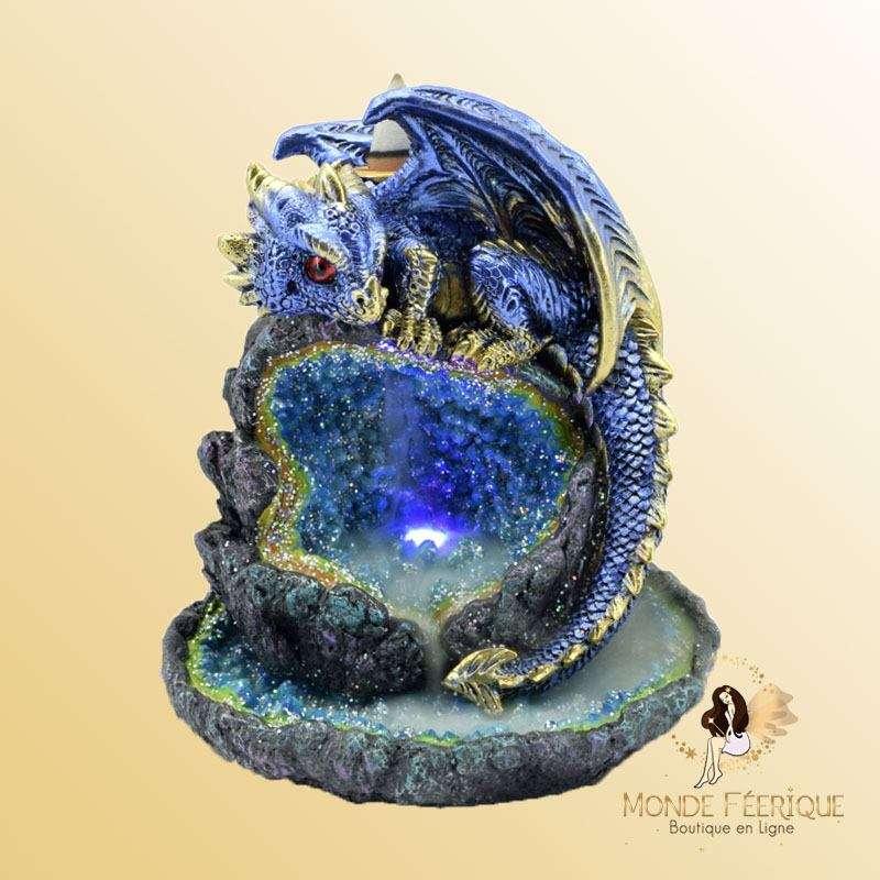 Diffuseur encens dragon bleu