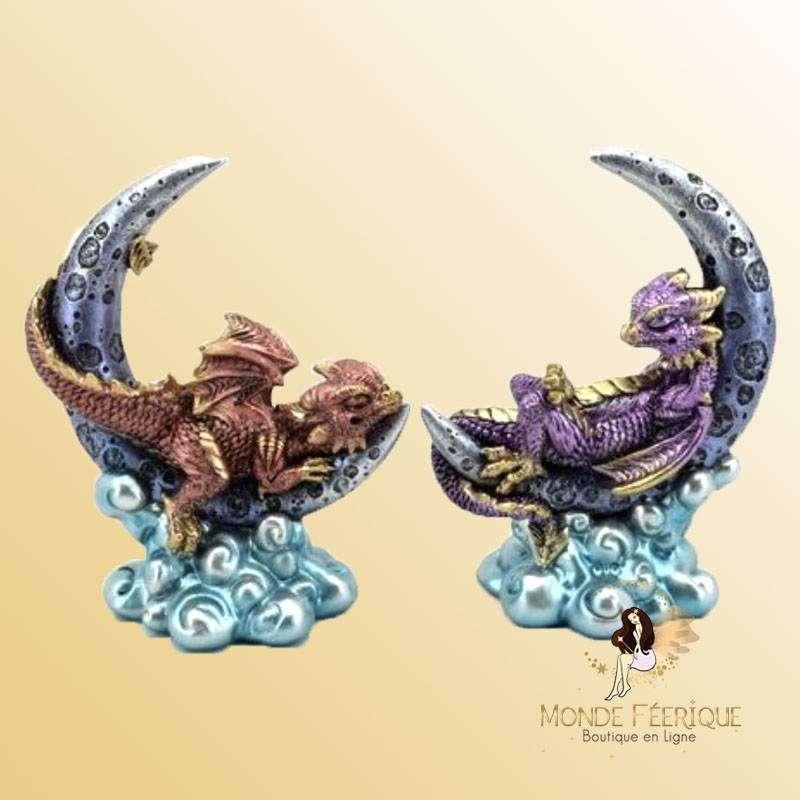 Figurine Dragon Les Lunes x2