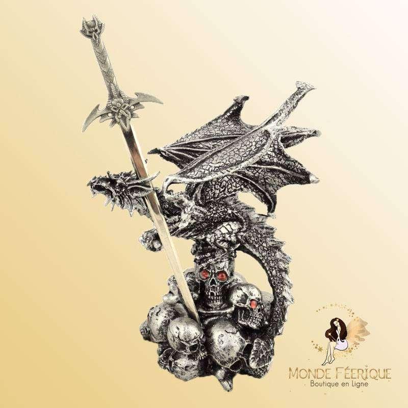 Figurine Dragon ouvre lettre dark power