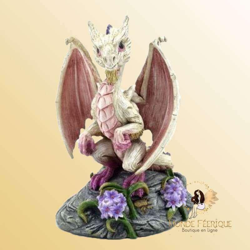Figurine Dragon Blanc Mina