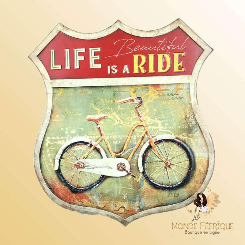 Plaque Metal Vélo