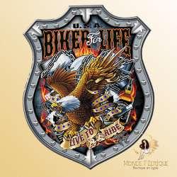Plaque Metal Bikers For Life