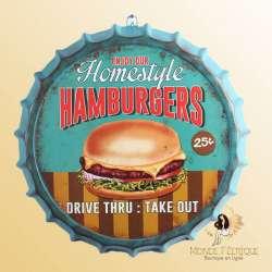 décoration burger vintage