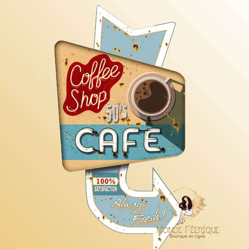Plaque Metal XL Good Café
