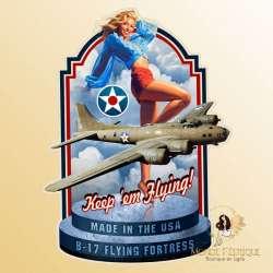 Plaque Metal Flying XL