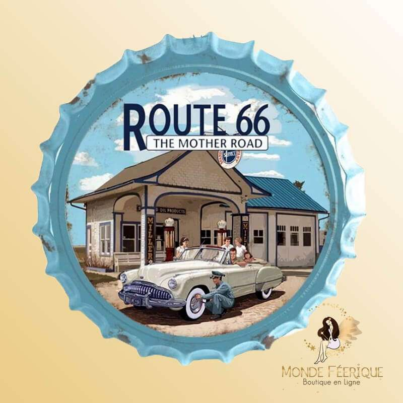 Capule Metal Route 66 the mother road