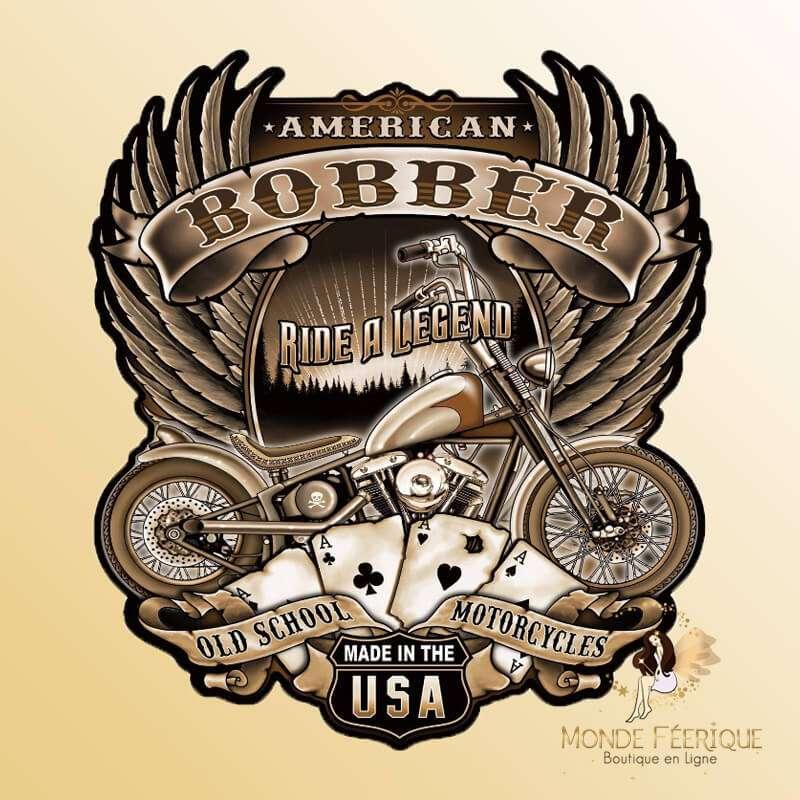 Plaque Metal Motorcycle USA vintage